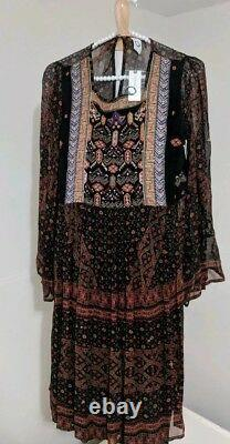 Anthropologie Akemi+Kin Munro Embroidered Beaded Tunic Dress Small Brand New NWT