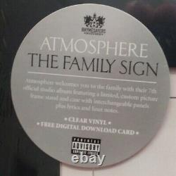 Atmosphere The Family Sign 2lp Clear Vinyl Brand New Sealed With Hype Sticker