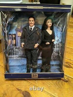 BRAND NEW SEALED Barbie Addams Family Set Gomez & Morticia Great