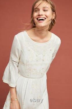 Brand NWT ANTHROPOLOGIE SZ SMALL PET TUNIC LACED DRESS BY AKEMI + KIN HTF WHITE