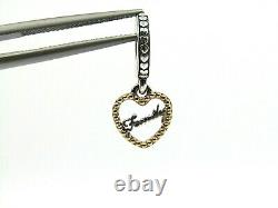 Brand New Authentic Pandora Loving Family Charm with 14k Gold Accent