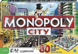 Brand New & Factory Sealed Rare Monopoly City Edition 3D Family Board Game