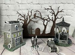 Department 56 Addams Family Village Dept Brand New in box 4 pc set