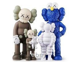 KAWS FAMILY Figures Brown Blue and White SS21 BRAND NEW IN BOX Confirmed