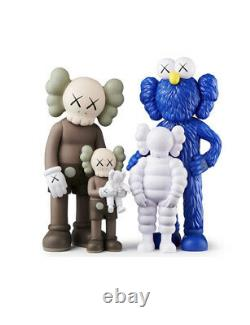 KAWS FAMILY Figures Set Brown/Blue/White BRAND NEW IN BOX IN HAND READY TO SHIP
