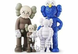 KAWS Family Figures Brown Blue White Brand New Authentic