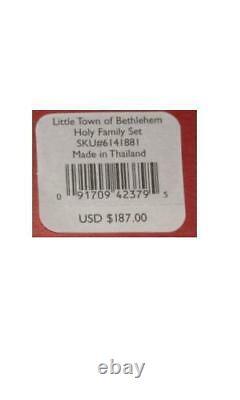 Lenox Little Town Of Bethlehem Holy Family Nativity 3 Pc Brand New In Lenox Box