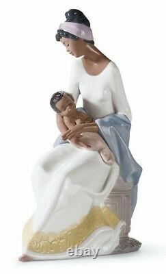 Lladro #6851 A Mother's Embrace Brand Nib Mother Baby Family Large Save$ F/sh