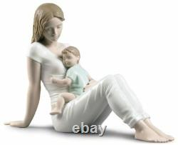 Lladro A Mother's Love Brand New In Box #9336 Mother Holding Baby Large Save$ Fs