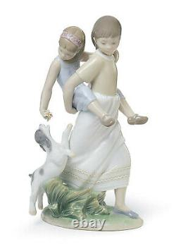 Lladro Oh Happy Days #8353 Brand New In Box Family Sisters And Dog Save$$ F/sh