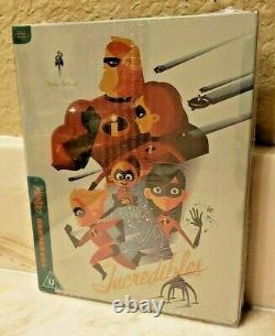 MONDO Disney's The Incredibles Blu Ray Steelbook Brand New Sealed! HTF