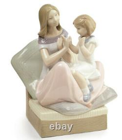 Nao By Lladro Pat A Cake #1668 Brand Nib Mother Daughter Family Love Save$ F/sh