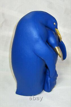 New Lladro Penguin Family Figurine Blue & Gold #9539 Brand Nib Love Save$$ F/sh