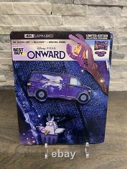 Onward (2020) 4K Blu-ray Steelbook Brand New Disney Pixar