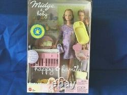 Pregnant Midge and Baby Happy Family Barbie Doll COLLECTOR'S ITEM- BRAND NEW