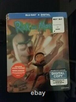 Rick and Morty Season 3 Best Buy Exclusive Sealed Brand New SEALED WithDigital