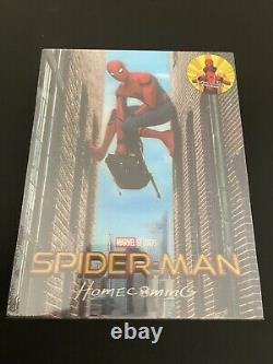 SPIDER-MAN HOMECOMING Blufans Single Lenticular 4K/3D Steelbook BRAND NEW SEALED