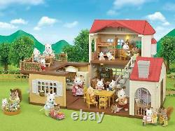 Sylvanian Families 5302 Red Roof Country Home With Working Lights Brand New