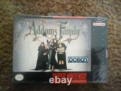 The Addams Family (SNES) Super Nintendo Brand New Factory Sealed RARE