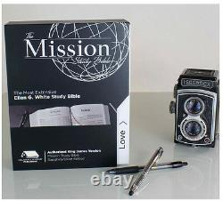 The Mission Color Study Bible KJV with E G White Comments Blue/Silver BRAND NEW