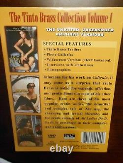 The Tinto Brass Collection Volume I (DVD 2006 3 Disc Set) BRAND NEW